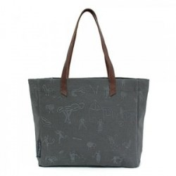 fair story grey shoulder bag Penduka print medium whole